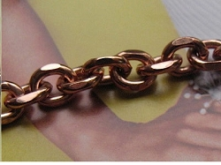 Ladies Solid Copper 7 Inch Bracelet CB603G - 1/4 of an inch wide