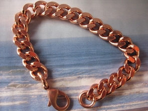 Men's 8 1/2 Inch Solid Copper Bracelet CB670G  - 7/16 of an inch wide