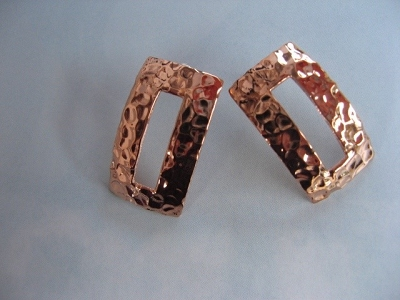 Copper Earrings CE102AR  -  1/2 of an inch wide.