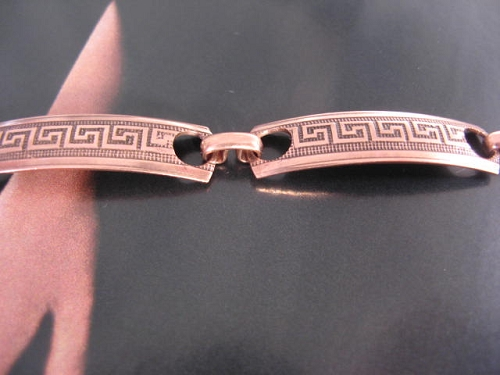 Solid Copper 8 Inch Bracelet CB1283C3 - 1/4 of an inch wide