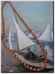 16 Inch Length Solid Copper Chain CN637G - 3/16 of an inch wide.