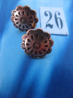 Copper Stud Earrings CE5235CO - 1/2 of an inch round