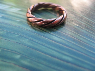 Copper Ring CR5249C- Size 5 - 1/8 of an inch wide.