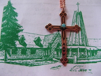 Copper Cross Pendant and Chain Set #CP5510C