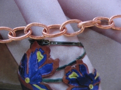 Solid Copper Anklet CA621G - 3/16 of an inch wide - Available in 8 to 12 inches lengths