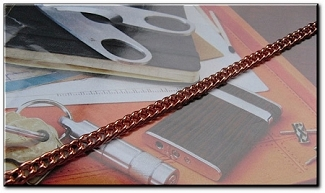 20 Inch Length Solid Copper Chain CN676G - 3/16 of an inch wide