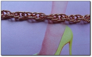 Solid Copper Anklet CA695G - 3/16 of an inch wide - Available in 8 to 12 inch lengths