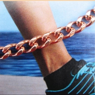 Solid Copper Anklet CA727G - 3/16 of an inch wide - Available in sizes 8 to 12 inches.