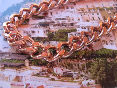 18 inch Length Solid Copper Chain CN744G - 3/8 of an inch wide