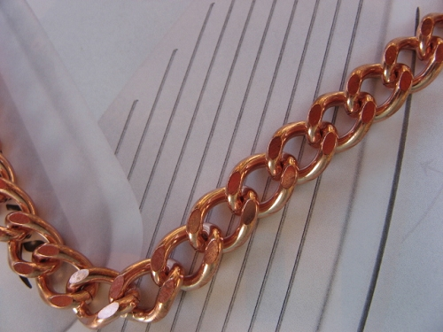 Solid Copper 10 1/2 Inch Bracelet CB644G - 3/8 of an inch wide