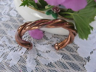 Women's 6 1/2 Inch Copper Cuff Bracelet CB821E - 3/16 of an wide.