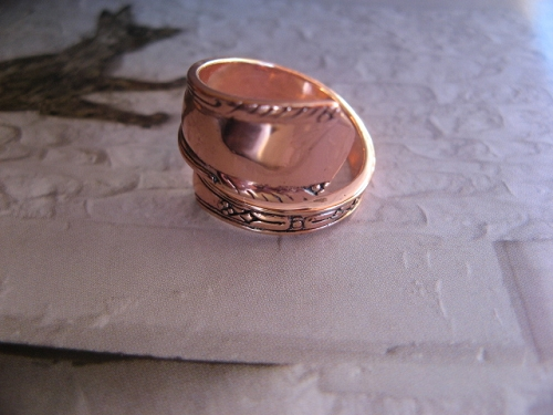 Adjustable Copper Ring CTR841 - 3/4 of an inch wide.