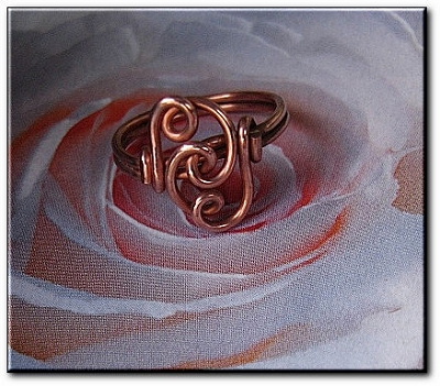 Copper Ring CR947C - Size 6 - 7/16 of an inch wide.