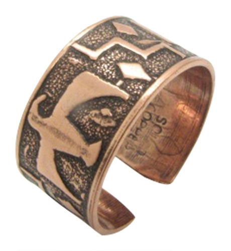 Adjustable Copper Ring  23 - Size 8 to 10.