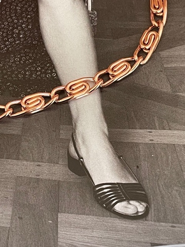 Solid Copper Anklet CA759G- 1/4 inch wide - Available in 8 to 12 inch lengths.