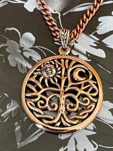 Copper Pendant and Chain Set #CPD3543