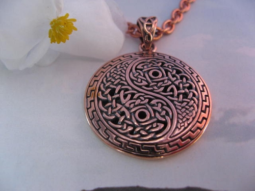 Copper Pendant and Chain Set #CPD985