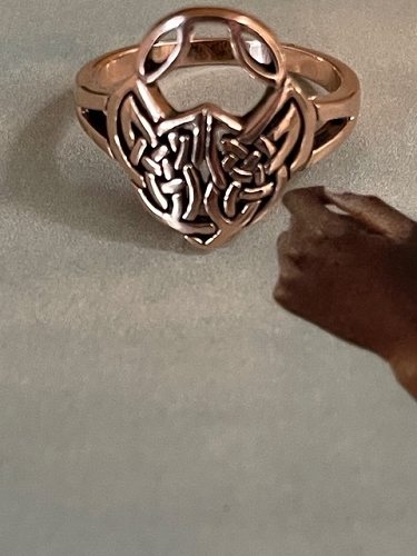 Size 8 Solid copper Celtic Knot band ring CRI1588 - 5/8 of an inch wide.