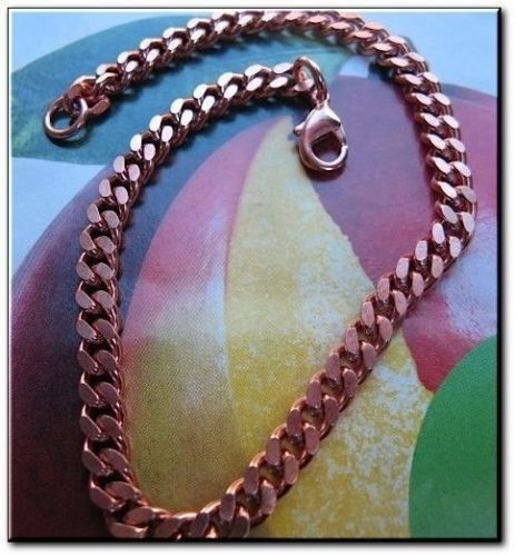 Solid Copper Anklet CA860G - 3/16 of an inch wide - Available in 8 to 12 inches length.