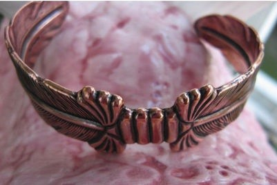 Women's 7 Inch Solid Copper Cuff Bracelet CB093 - 3/4 of an inch wide.