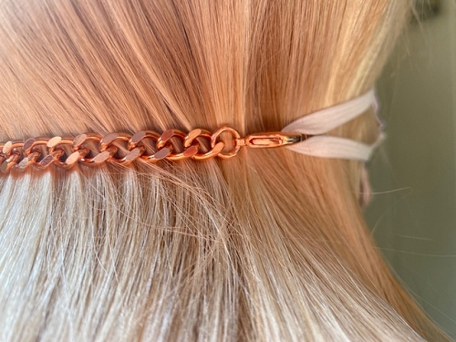 5 inch, solid copper chain, mask extension.