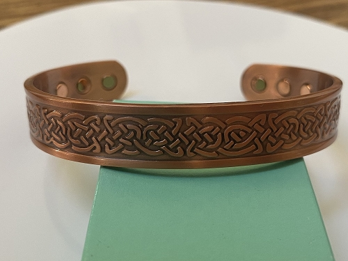 Men's 8 Inch Solid Copper Magnetic Cuff Bracelet CBM883- 1/2 an inch wide.