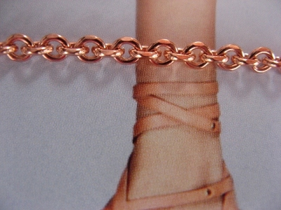 Solid Copper Anklet CA105G - 1/8 of an inch wide - Available in 8 to 12 inch lengths