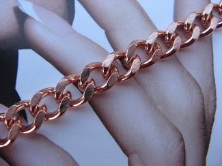 Solid Copper 7 Inch Bracelet CB728G - 5/16 of an inch wide