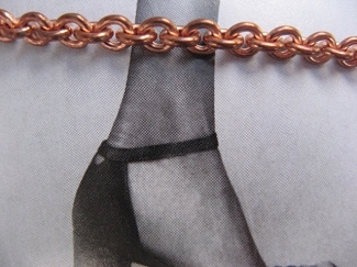 Solid Copper Anklet CA733G - 3/16 of an inch wide - Available in 8 to 12 inch lengths.