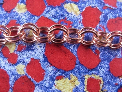 Solid Copper 7.5 inch Bracelet CB104G- 1/4 of an inch wide