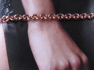 Solid Copper 7 1/2 Inch Bracelet CB725G - 1/16  of an inch wide  - Very thin.