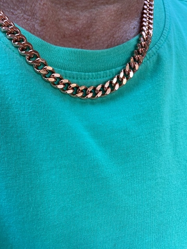 20 inch Length Solid Copper Chain CN644G - 5/16 of an inch wide