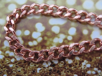 Men's 8 Inch Solid Copper Bracelet CB728G  - 5/16 of an inch wide