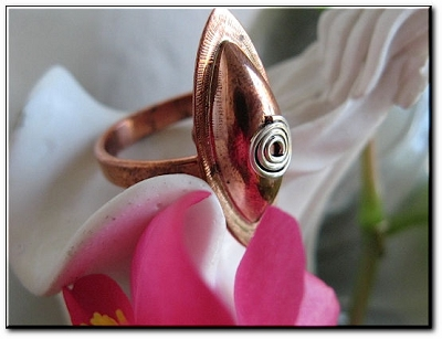 Copper Ring CR1256 Size 6 - 1 inch long.