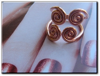 Copper Ring CR22HH - Size 7 - 5/8 of an inch wide.