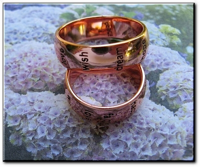 Copper Ring CRI791 - Size 7 - 1/4 of an inch wide.