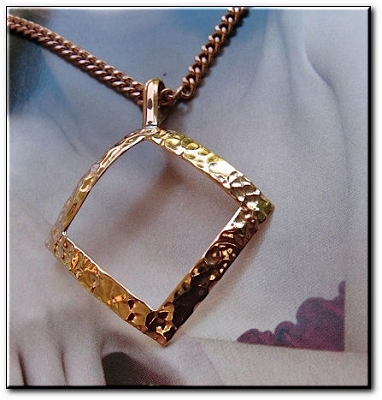 Solid Copper Pendant and Chain Set #CP239AR