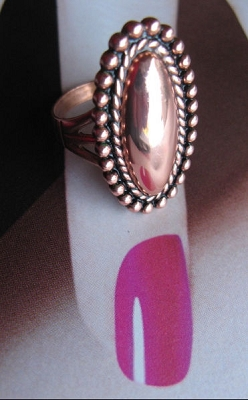 Copper Ring CR6313CO- Size 6 - 1 inch long.