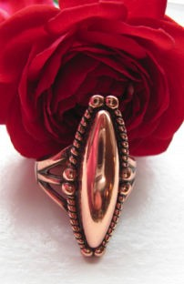 Copper Ring CR6324CO- Size 5 - 1 1/4 inches long.