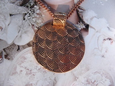 Copper Pendant and Chain Set #250AR