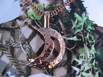 Copper Pendant and Chain Set #251AR