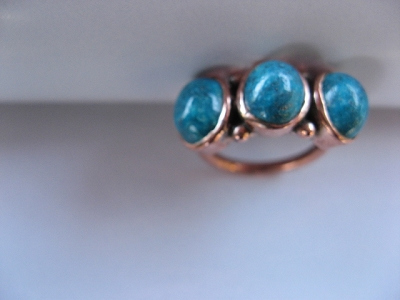 Copper, brass and nickel Ring CR255G- Size 9 - 3/8 of an inch wide