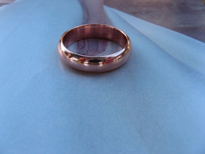 Copper Ring CSM153 - Size 10 - 5mm  wide.  - Smooth comfort fit style.