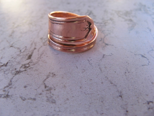 Adjustable Copper Ring CTR828 - 5/8 of an inch wide.