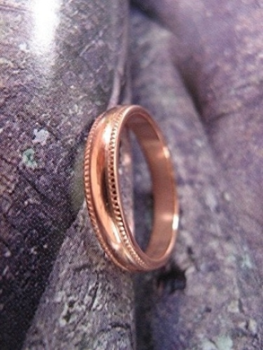 Solid Copper Band Ring CR84T - Size 5 - 4mm wide - Made in the USA
