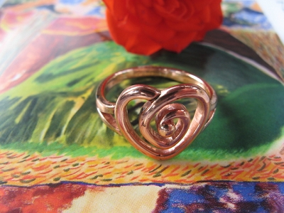 Copper Ring CRI1125 -  Size 8 - 1/2 an inch wide.