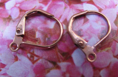 Copper lever earring converters - 1 Pair