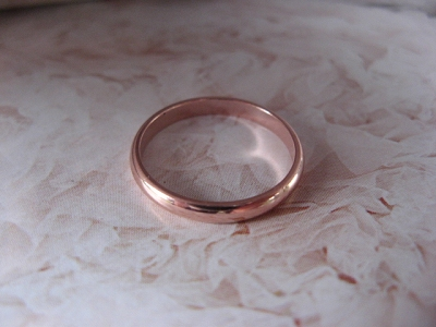Copper Ring CR47T- Size 10 - 2.5mm  wide.