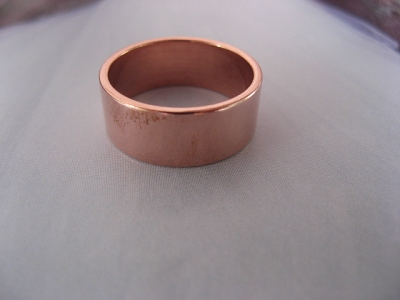 Copper Ring CR50T Size 10 - 5/16 of an inch wide. 8MM - Thick
