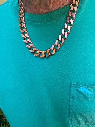 22 Inch Length Solid Copper Chain CN639G - 5/8 of an inch wide - Our widest design.